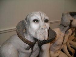 "detail of Jane Alexander's ""Butcher Boys"" sculpture"